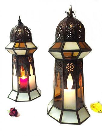 Oriental Lantern Basheera Orange Clear - 50cm – image 3