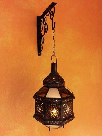 Moroccan Lantern Azima White / Orange - 33cm – image 5