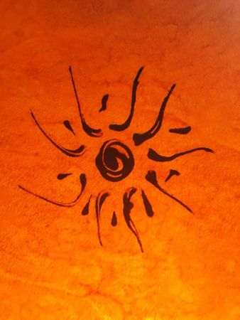 Ceiling Henna Lamp Demren Orange – image 2