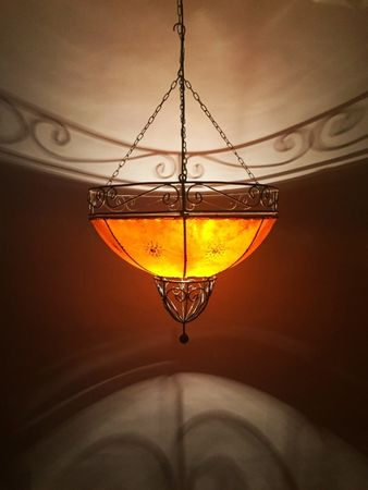 Ceiling Henna Lamp Demren Orange – image 3
