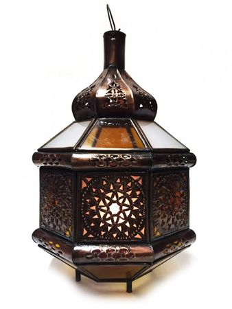 Moroccan Ceiling Light Azima - orange / white - 33cm – image 4