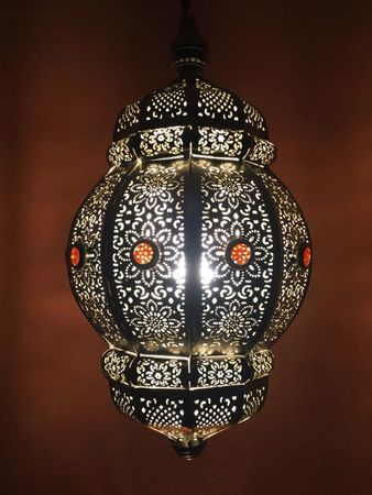Moroccan Ceiling Lamp silver colored Maira – image 1