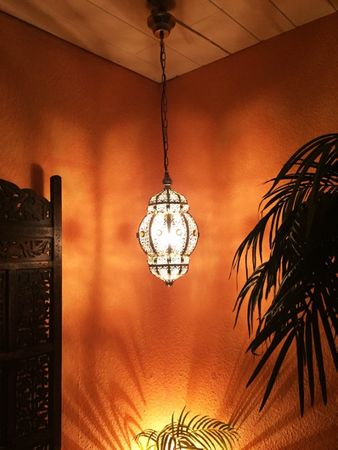 Moroccan Ceiling Lamp silver colored Maira – image 3