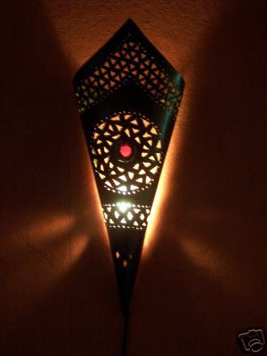 Mediterranean Wall Lamp Fatma Red – image 1