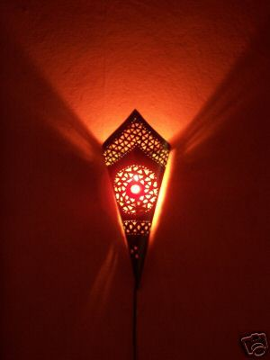 Mediterranean Wall Lamp Fatma Red – image 2