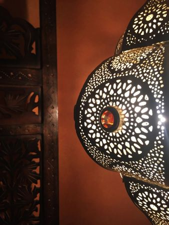 Moroccan Ceiling Lamp silver colored Elif – image 4