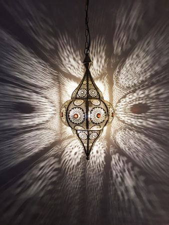 Moroccan Ceiling Lamp silver colored Elif – image 6