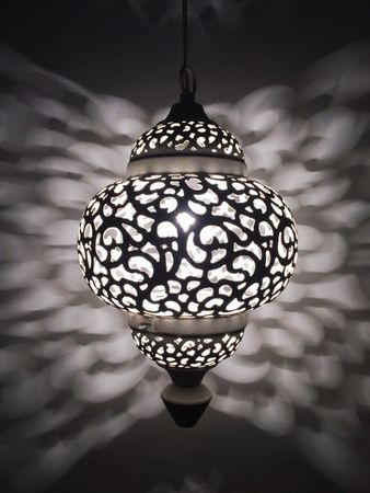 Moroccan Ceiling Lamp Naima White – image 4