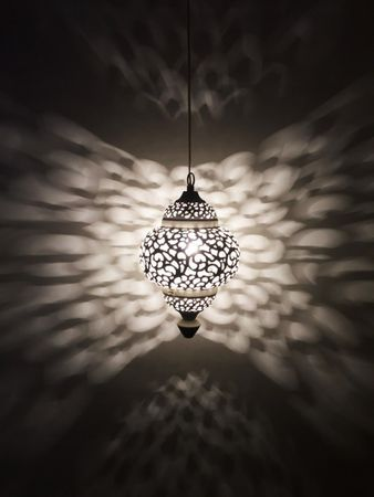 Moroccan Ceiling Lamp Naima White – image 5