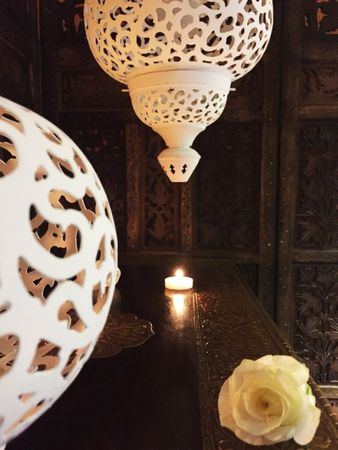 Moroccan Ceiling Lamp Naima White – image 9