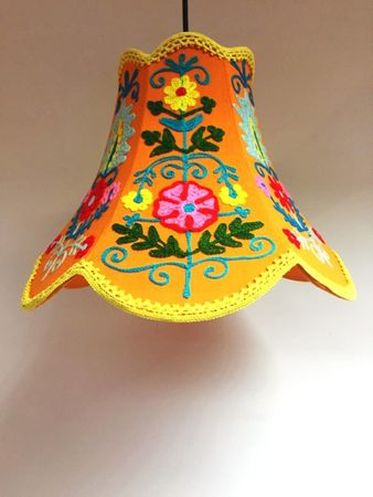 Shabby Chic cotton lamp Shyamana Orange – image 6