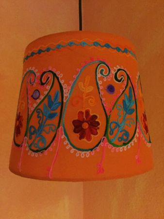Shabby Chic cotton lamp Shankar Orange – image 3