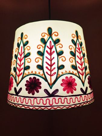 Shabby Chic cotton lamp Shankar Green – image 2