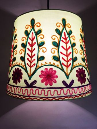 Shabby Chic cotton lamp Shankar Green – image 6