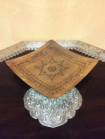 Indian Plate Manoly square - 22cm – image 5