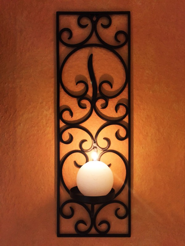 Moroccan Wall Candle Holder Candlesticks Araminta Small 59cm