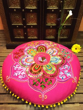 Oriental floor cushions Yoga cushions Mirza - 2 - 75cm – image 3