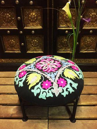 Oriental footstool Stool Mahesh - 1 – image 3