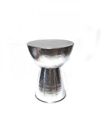 Indian aluminum table, side table Carmita - 50cm – image 2