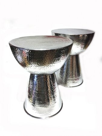 Indian aluminum stool Carmita - 49cm high – image 4