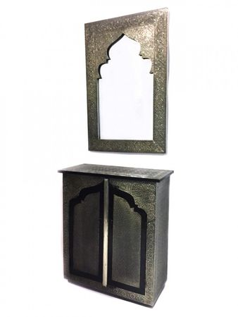 Moroccan Mirror silver colored Talah - 90cm – image 2