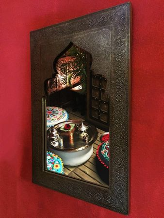 Moroccan Mirror silver colored Talah - 90cm – image 8