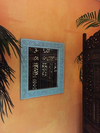 Oriental hand carved Mirror Farah - 70cm – image 5