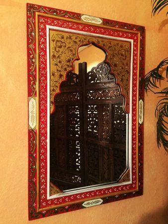 Oriental Mirror hand painted Gulbadan - 90cm – image 2