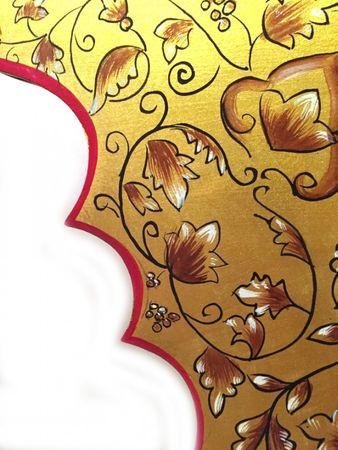 Oriental Mirror hand painted Gulbadan - 90cm – image 4
