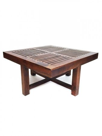 Indian coffee table Stool Tuqa - 90cm - incl. 4 stools – image 5