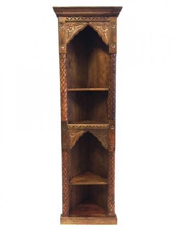 Indian Corner shelf carved Wurud - 182cm – image 1