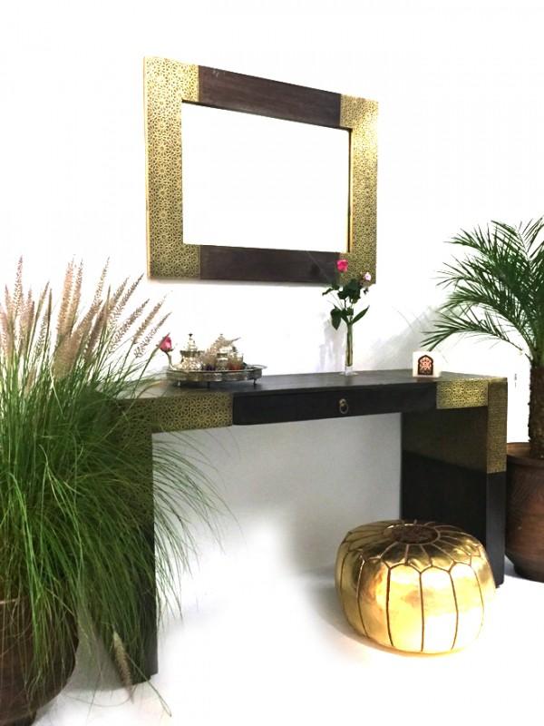 commode marocaine miroir sulafah xxl 150cm oriental armoire orientale. Black Bedroom Furniture Sets. Home Design Ideas
