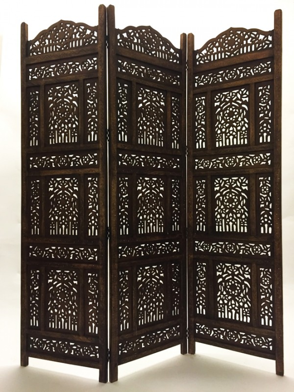 paravent en bois abhinava 180 cm artisanat indien meuble indien. Black Bedroom Furniture Sets. Home Design Ideas