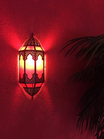 Oriental Wall Light Asha - Red – image 5