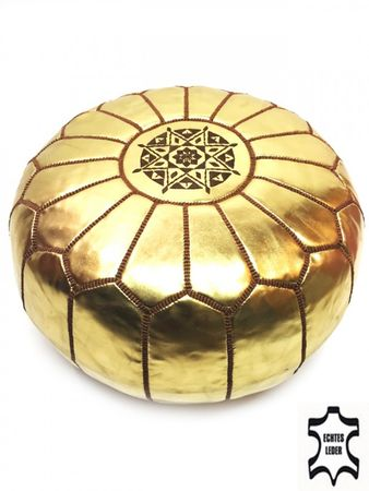 Oriental Seat Cushion Iskandar - golden colored 54cm – image 1