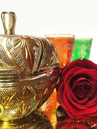 Brass Mint Box Daftan - Gold colored/ Silver colored – image 7