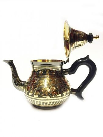 Oriental moroccan Teapot Bakir black/ gold colored- 600ml – image 2