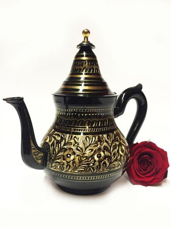 Oriental moroccan Teapot Baidar black/ gold colored- 750ml – image 2