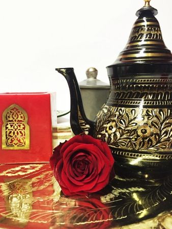 Oriental moroccan Teapot Baidar black/ gold colored- 750ml – image 5