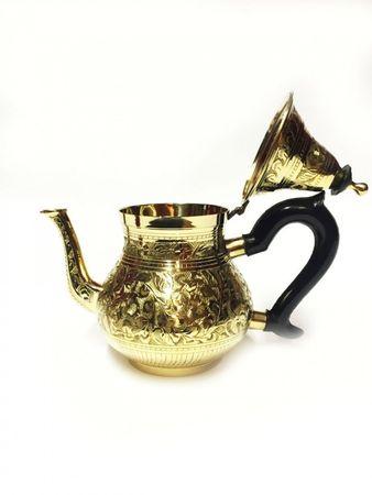 Oriental moroccan Teapot Abidin gold colored- 750ml – image 2