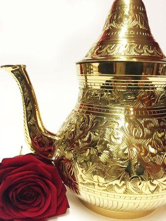 Oriental moroccan Teapot Abidin gold colored- 750ml – image 4