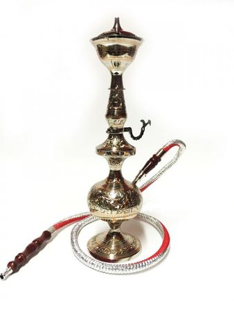 Orient Shisha made of brass Darim - silver / copper color – image 1