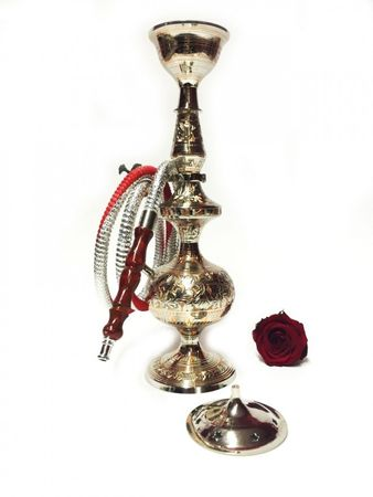 Orient Shisha made of brass Darim - silver / copper color – image 2