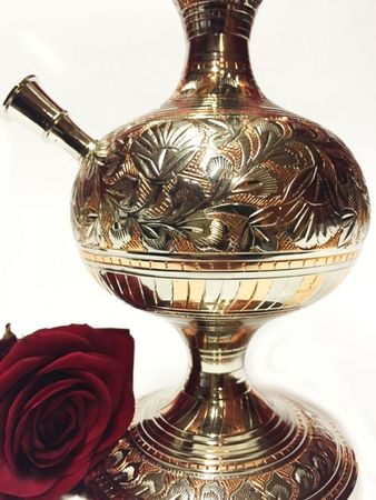 Orient Shisha made of brass Darim - silver / copper color – image 3
