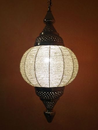 Moroccan Ceiling Lamp Shadia silver colored – image 1