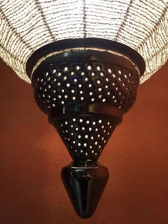 Moroccan Ceiling Lamp Shadia silver colored – image 4