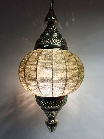 Moroccan Ceiling Lamp Shadia silver colored – image 6