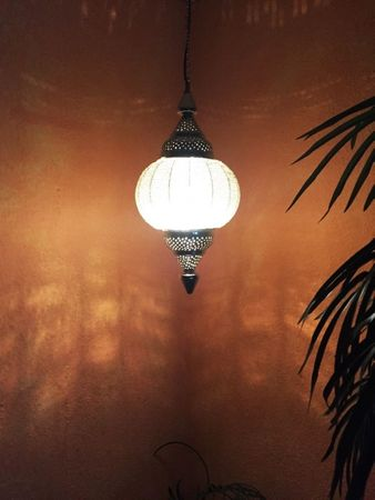 Moroccan Ceiling Lamp Shadia silver colored – image 9