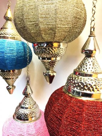 Moroccan Ceiling Lamp Shadia turquoise – image 3