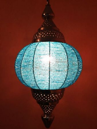 Moroccan Ceiling Lamp Shadia turquoise – image 1